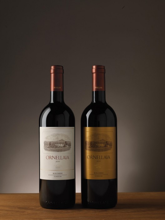 L'Infinito di Ornellaia 2011 and limited editon gold label bottles