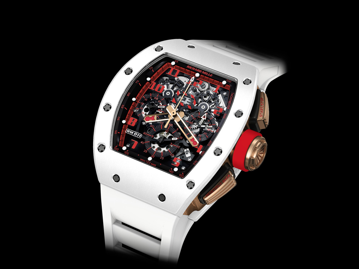 """RICHARD MILLE INTRODUCES THE RM 011 AUTOMATIC FLYBACK CHRONOGRAPH """"WHITE DEMON"""""""