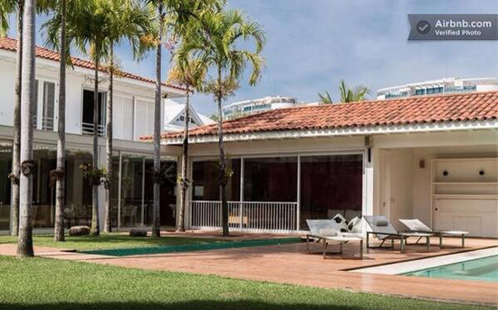 You can rent Ronaldinho's mansion for $15,000 a night