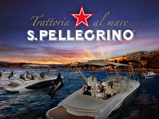 The iconic S.Pellegrino will open an unusual pop-up restaurant concept situated on a fleet of motor boats during the Cannes Film Festival