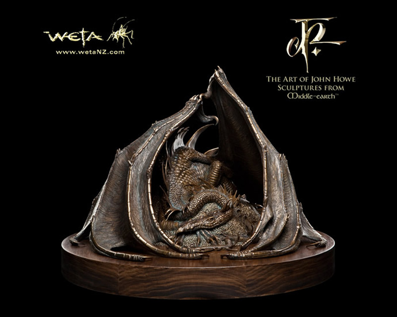 This $4,900 Smaug the Golden bronze statue by WETA Workshop is truly amazing