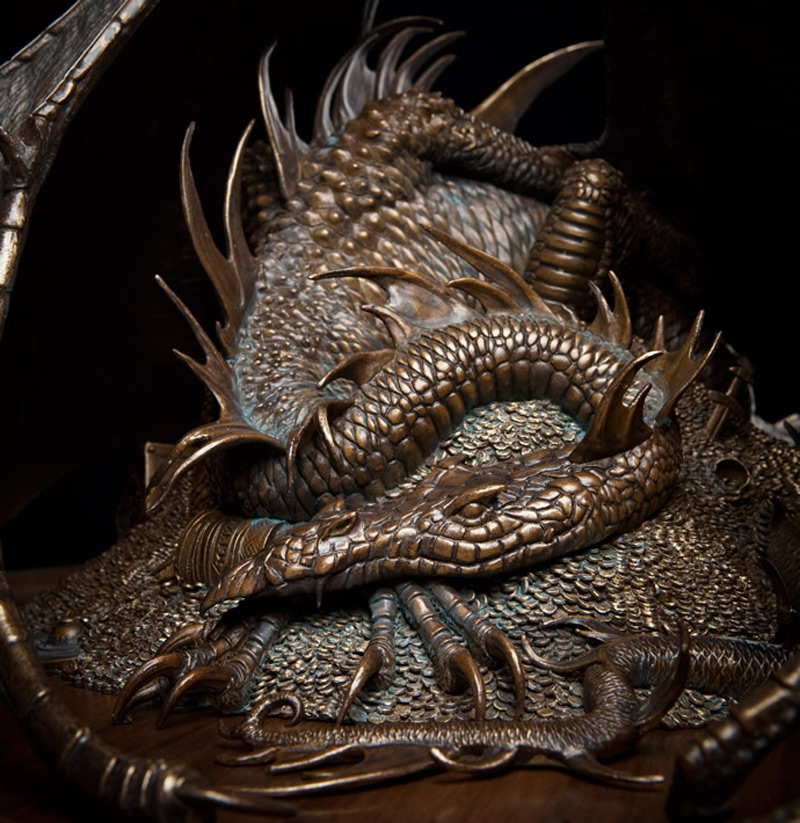 The Hobbit Smaug The Golden Bronze Statue Available For