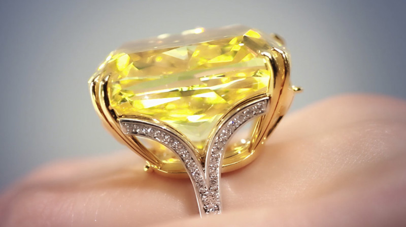 Graff Vivid Yellow Diamond Sold for £9.7 Million at Sotheby's Geneva