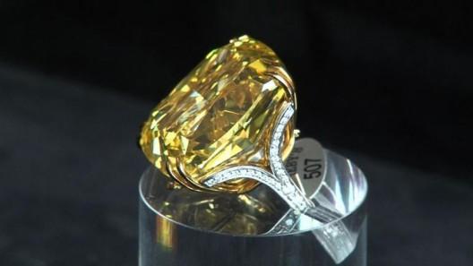 Graff Vivid Yellow Diamond Sold for £9.7 Million at Sotheby's Geneva