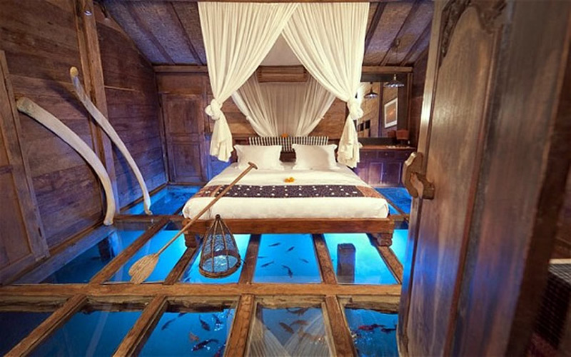 Sleep With the Fishes in Bali's Bambu Indah Hotel