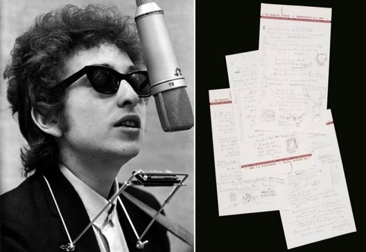 Bob Dylan's Handwritten Manuscript Sold for Record $2 Million