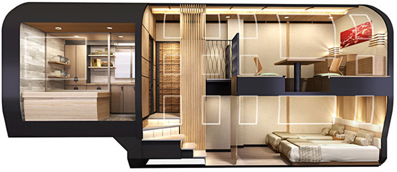 Japanese New Luxury Sleeper Train is Penthouse on Rails - eXtravaganzi