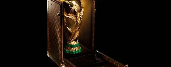 The 2014 FIFA World Cup trophy gets a Louis Vuitton case and supermodel Gisele Bundchen for a presenter
