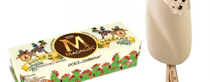 Magnum collaborates with Dolce and Gabbana for a limited edition designer icecream