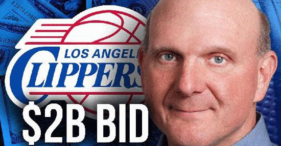Steve Ballmer Will Pay $2 Billion for the Los Angeles Clippers Basketball Team