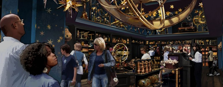 Universal Orlando Resort opened its new, richly detailed Harry Potter-themed area to news media and other travel industry insiders Wednesday night.