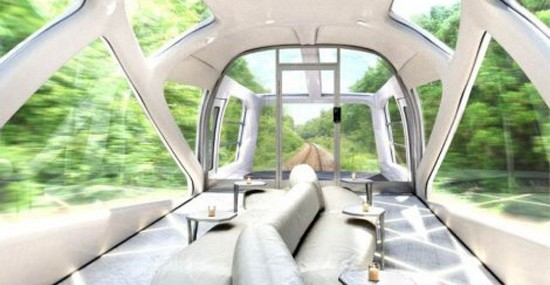 Luxury Train Like Yacht on the Railway