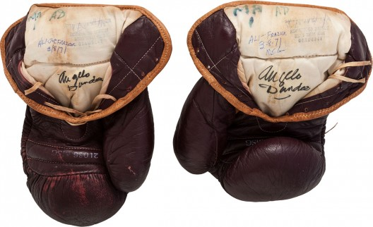 1971 Muhammad Ali Fight Worn Gloves from First Joe Frazier Bout