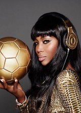 Dr. Dre And Naomi Campbell 24 Carat Headphones