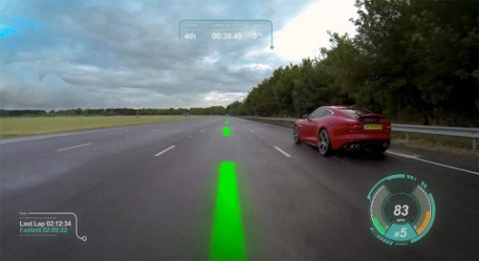 Jaguar designs windscreen that turns real racing into a cool videogame
