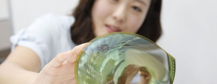 The electronics company LG hopes to release a paper-thin TV panel by 2017.