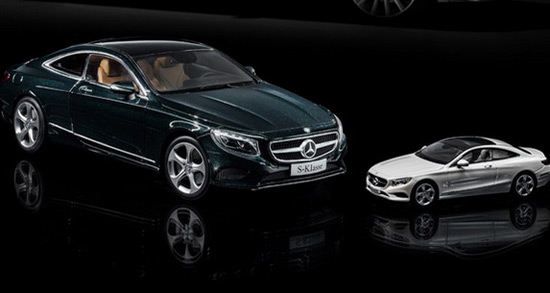 Mercedes S Class Coupe In Ratio Of 1:18 And 1:43