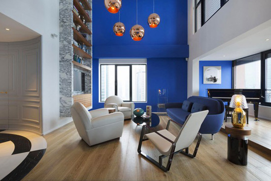 Perfect Blue Penthouse by Dariel Studio