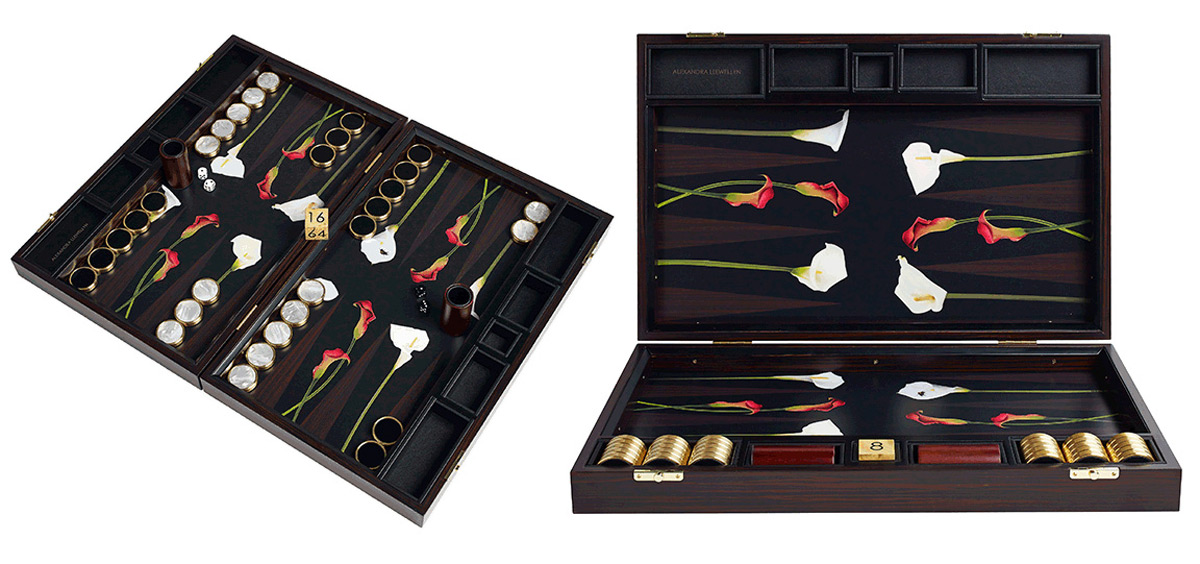 Alexandra Llewellyn's Luxury Backgammon Boards for Elite