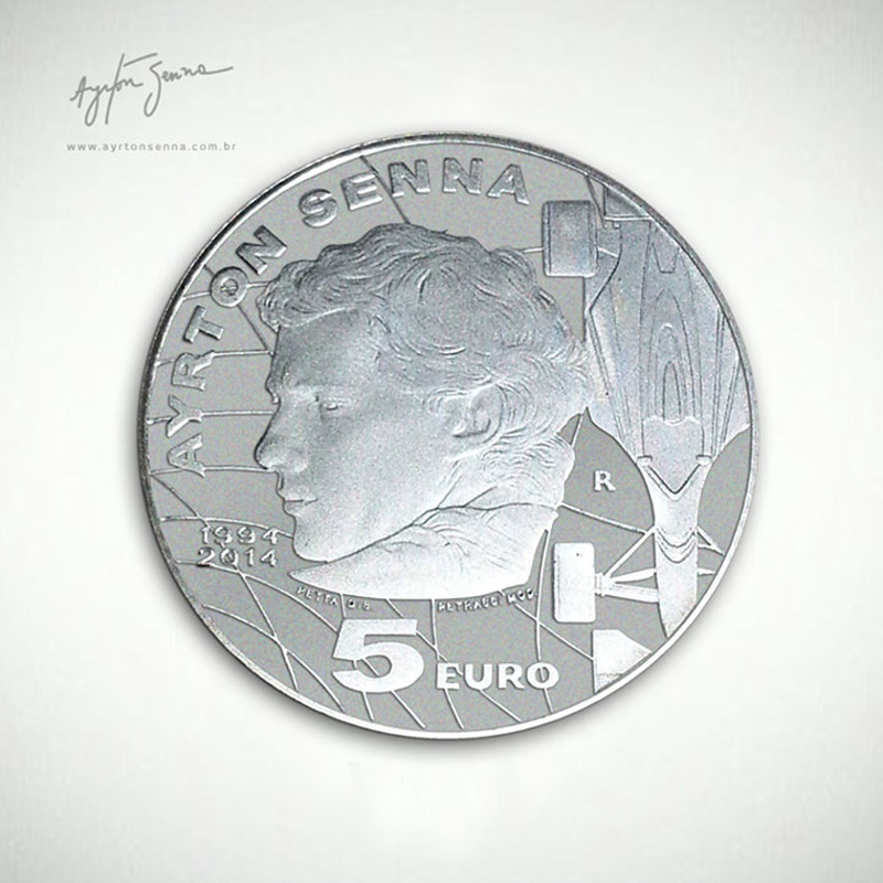 Ayrton Senna On Coins Of 5 Euros