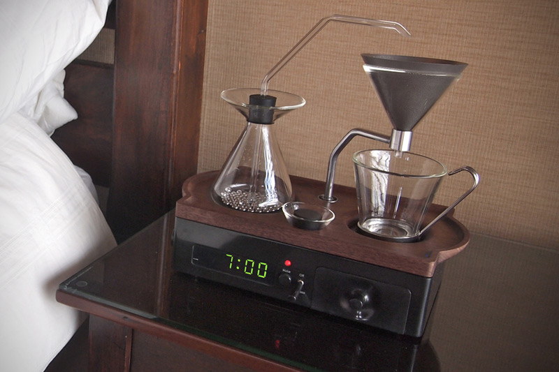 The Barisieur Alarm Clock Wakes You Up with a Nice Cup of Coffee