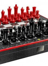 Ferrari Carbon Fibre Mahjong And Chess Set