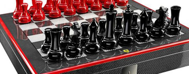 Ferrari Chess Set is a Carbon-Fiber Work of Art