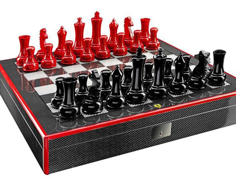 Ferrari Chess Set is a Carbon-Fiber Work of Art