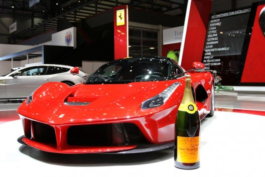 Ferrari And Veuve Clicquot Creates Limited Edition The Veuve Clicquot Maranello Edition Set For CFDA