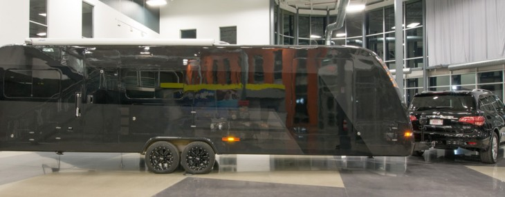 Here's Million-Dollar Carbon Fiber Trailer