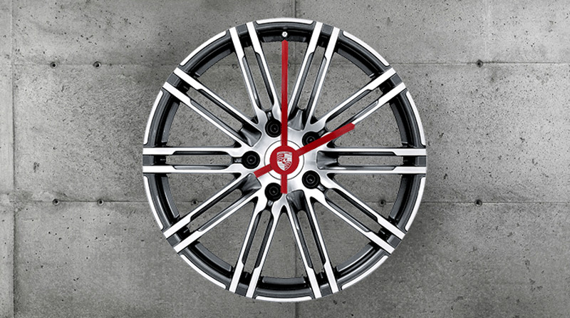 Unique Porsche 911 Turbo Rim Wall Clock