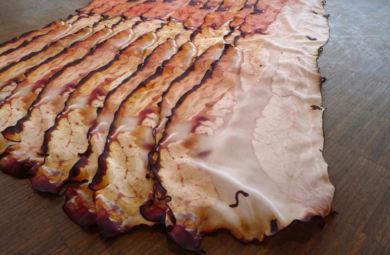 Would You Pay $165 for Silk Bacon Scarf?