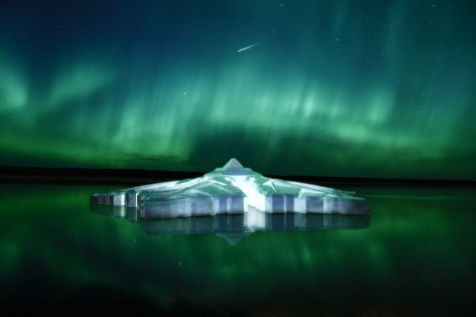 World's First Floating Snowflake Hotel