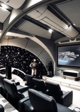 Custom-made Star Wars Death Star Home Theater