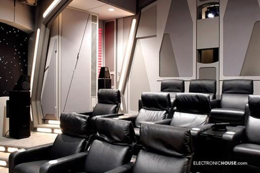 Custom-made Star Wars Death Star Home Theater