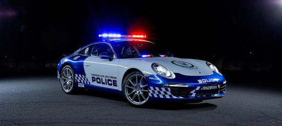 From Now Australian Police Will Parade in Porsche 911