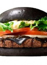 Black Burger on the Menu of Japanese Burger King!
