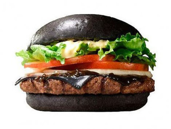 Black Burger on the Menu of Japanese Burger King!