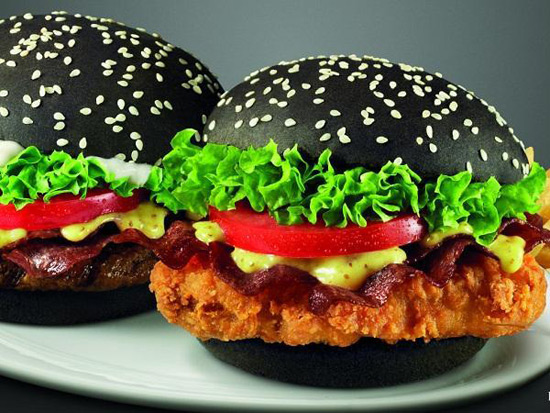 The Black Burger Best Burger - Black hamburger