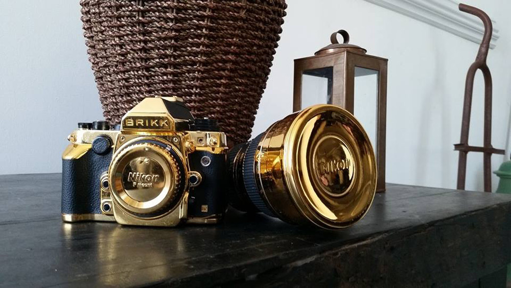 Nikon DF DSLR Camera Dressed In 24K Gold