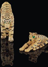 Two Iconic Cartier Tigers at Christie's Auction