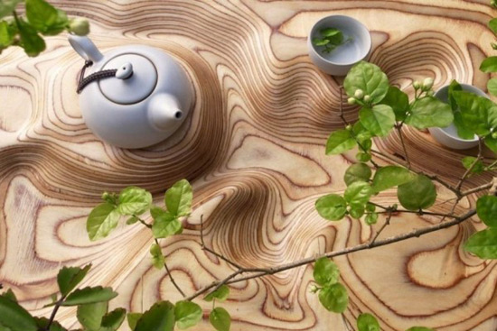 Confluence - Chinese Tea Tray by Artonomos