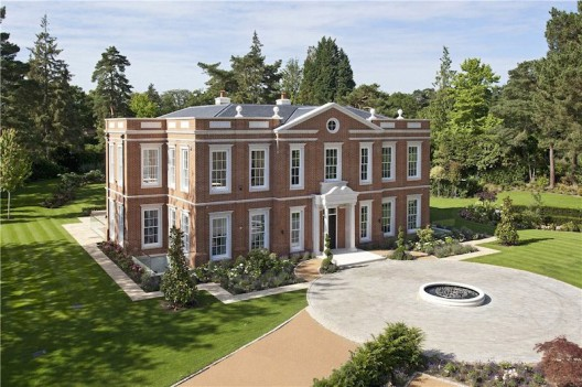Crossacres newly built mansion in surrey england on - House with swimming pool for sale scotland ...