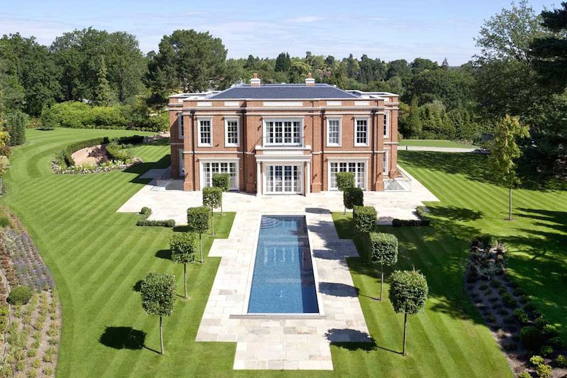 Crossacres - Newly Built Mansion in Surrey, England on Sale for £17,5 Million