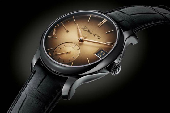 Endeavour Perpetual Calendar Black Golden Edition Watch By H. Moser & Cie