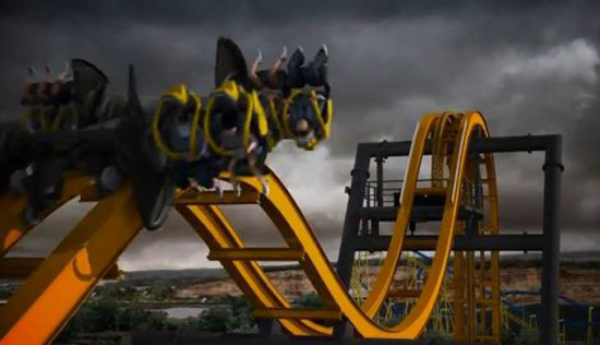 The First 4D Roller Coaster In The World By Six Flags