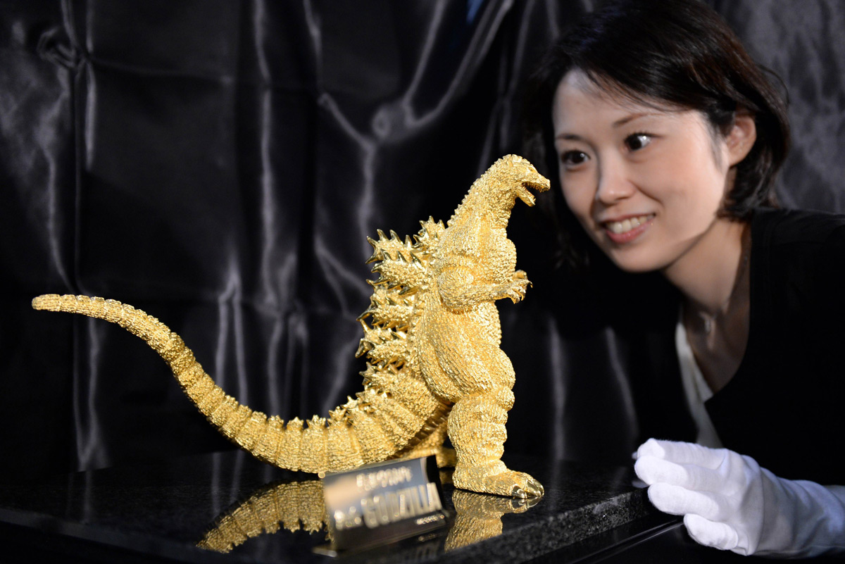 Golden Godzilla Statuette on Sale for $1,5 Million