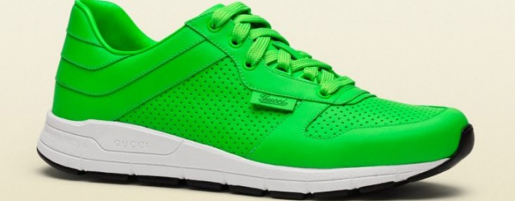 It's Time for Neon! Gucci's Fall 2014 Sneakers