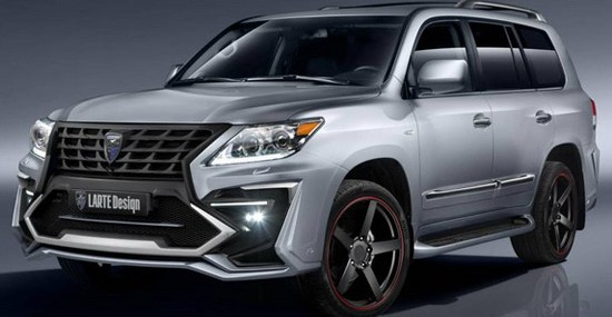 modified Lexus LX 570 with a 5.7-liter V8 engine