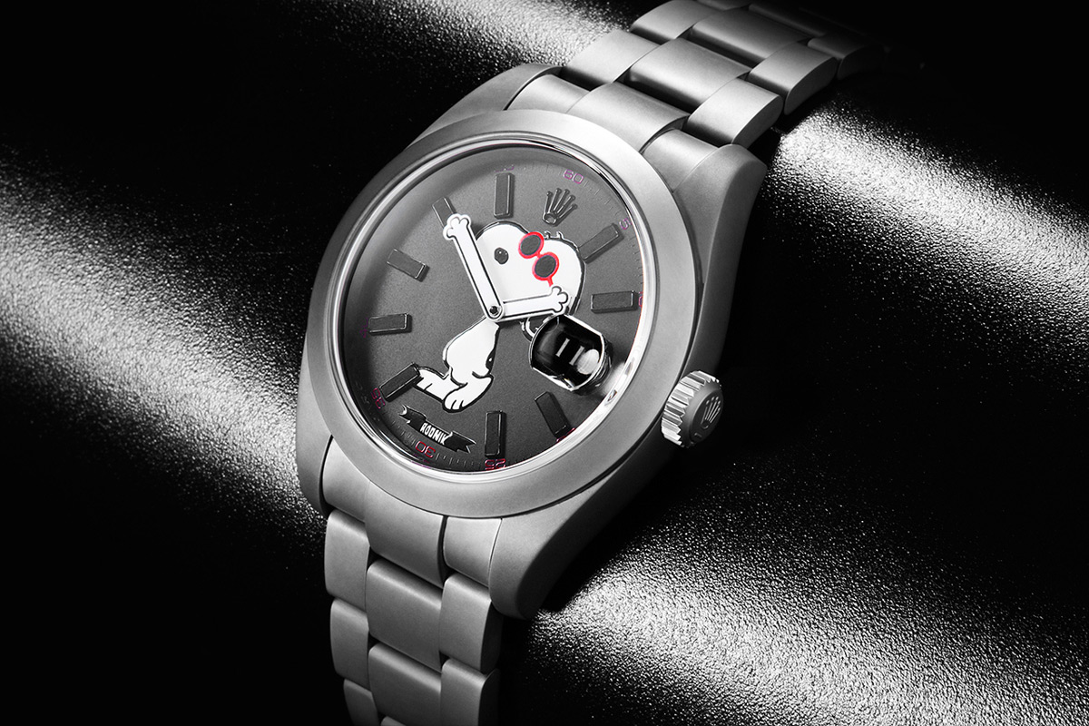 Rolex Datejust as Limited Edition Snoopy Watch by Rodnik Band